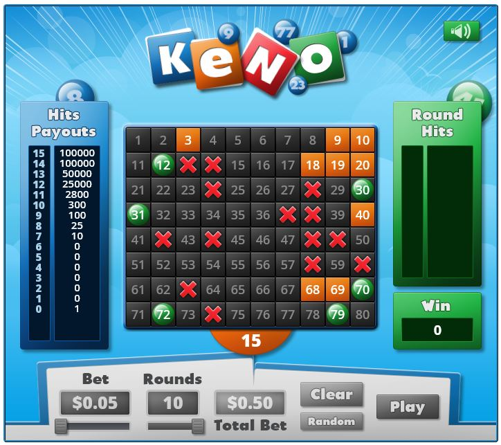 Keno in-game