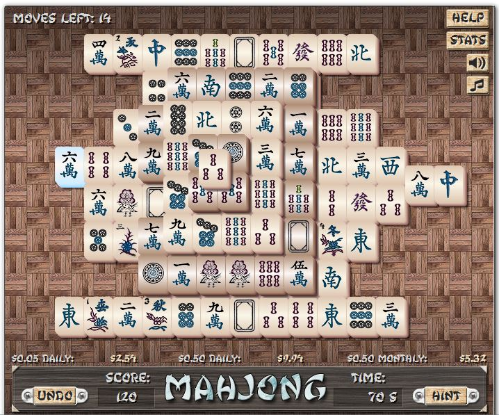 Mahjong in-game image on PlayPerfectMoneyGames.com