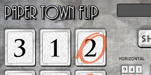 Paper Town Flip, test your luck
